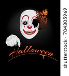 scary clown for halloween ... | Shutterstock .eps vector #704305969