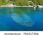 Small photo of Amazing Sunken Ship Bruce Peninsula, Tobermory, Lake Huron, Fathom Five National Marine Park, Ontario
