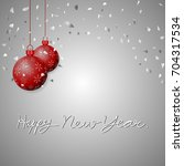 christmas ball vector... | Shutterstock .eps vector #704317534