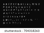 retro  design font   distress... | Shutterstock .eps vector #704318263