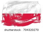 poland flag grunge background.... | Shutterstock . vector #704320270