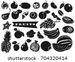 collection of black and white... | Shutterstock .eps vector #704320414