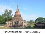 thailand historical park ... | Shutterstock . vector #704320819