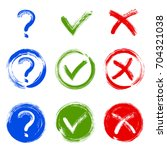 question mark  symbolic x and... | Shutterstock .eps vector #704321038