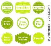 green vector organic labels ... | Shutterstock .eps vector #704321044