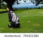 golf equipments  clubs  driver  ...   Shutterstock . vector #704321380