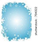 grunge snowflake border   vector | Shutterstock .eps vector #704322