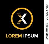 strips letter x logo. x letter... | Shutterstock .eps vector #704325700