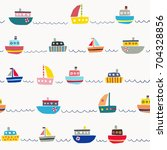 seamless pattern with cute... | Shutterstock .eps vector #704328856