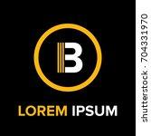 strips letter b logo. b letter...