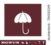 umbrella icon flat. simple...