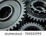 gears auto set on the rude... | Shutterstock . vector #704332999