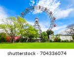 the wiener riesenrad or vienna... | Shutterstock . vector #704336074