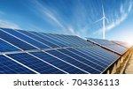 photovoltaic power plants and... | Shutterstock . vector #704336113