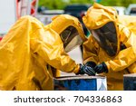 firefighter training protect...   Shutterstock . vector #704336863