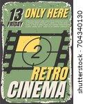 vector posters of films in... | Shutterstock .eps vector #704340130