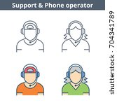 occupations colorful avatar set ...   Shutterstock .eps vector #704341789