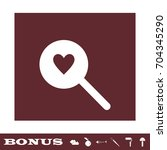 heart search icon flat. simple...