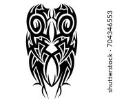 tribal pattern tattoo vector... | Shutterstock .eps vector #704346553