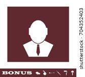 businessman icon flat. simple...