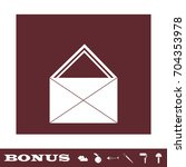 mail icon flat. simple white...