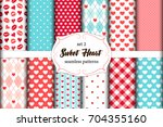 cute set of scandinavian sweet... | Shutterstock .eps vector #704355160