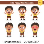 character design set of a cute... | Shutterstock .eps vector #704360314