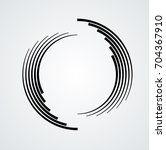 lines in circle form . spiral... | Shutterstock .eps vector #704367910