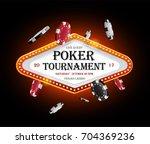 golden vector casino vegas sign ... | Shutterstock .eps vector #704369236