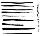 vector hand drawn ink stripes... | Shutterstock .eps vector #704370706