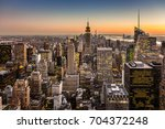 new york city. manhattan... | Shutterstock . vector #704372248