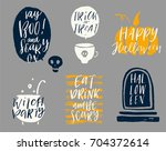 halloween vector illustration.... | Shutterstock .eps vector #704372614