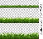 grass border  vector... | Shutterstock .eps vector #704376610