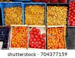 farmers product in east europe... | Shutterstock . vector #704377159