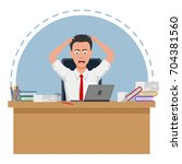 failed and stressed businessman ... | Shutterstock .eps vector #704381560