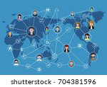 global business communication... | Shutterstock .eps vector #704381596