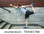 fitness sport young adult... | Shutterstock . vector #704381788