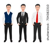 business people teamwork ... | Shutterstock .eps vector #704382310