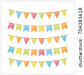 colorful bunting for decoration ... | Shutterstock .eps vector #704383618