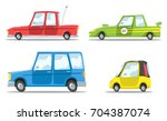 set of cartoon vector cars | Shutterstock .eps vector #704387074