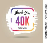 thank you design template for... | Shutterstock .eps vector #704395300