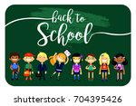 back to school  set of... | Shutterstock .eps vector #704395426