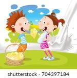 milk splash pour milk design... | Shutterstock .eps vector #704397184