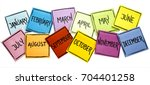 set of twelve months   january  ...   Shutterstock . vector #704401258