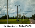 Electricity Poles Are Located...