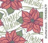 vintage style  christmas...   Shutterstock .eps vector #704406679