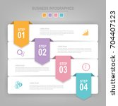 infographics template of four...   Shutterstock .eps vector #704407123