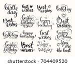 happy birthday   best wishes.... | Shutterstock .eps vector #704409520