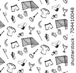 hand drawn seamless pattern...   Shutterstock .eps vector #704410048
