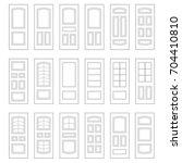 big set of door ideas. build... | Shutterstock .eps vector #704410810